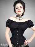 Underbust Black Arabesque